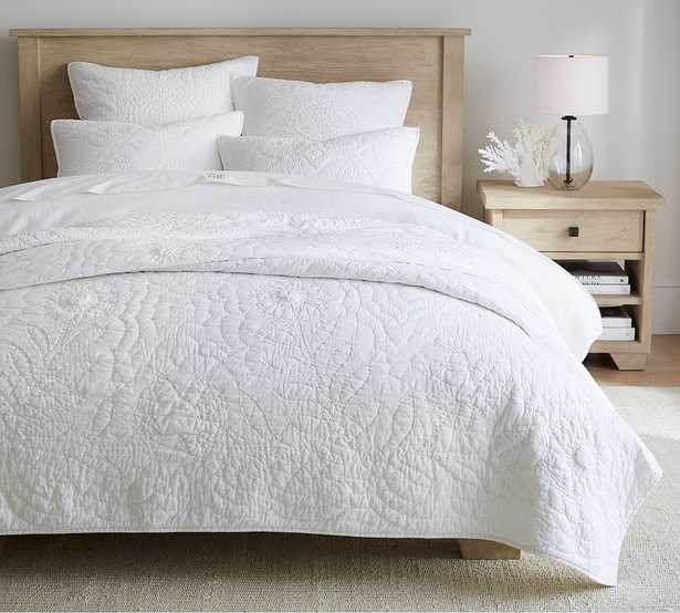White Lilo Cotton Handcrafted Quilt Quilt, King/Cal. King - Pottery Barn