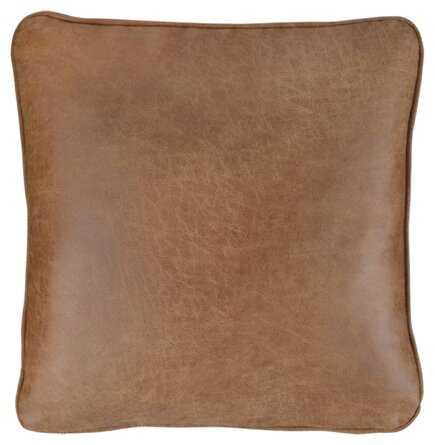 "Desoto Square Faux Leather Pillow Cover & Insert, 20"" x 20"" - Wayfair"