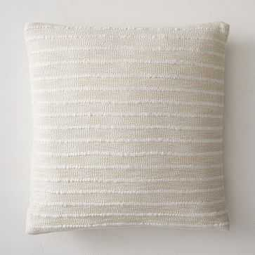 """Soft Corded Pillow Cover, 20""""x20"""", Natural Canvas - West Elm"""