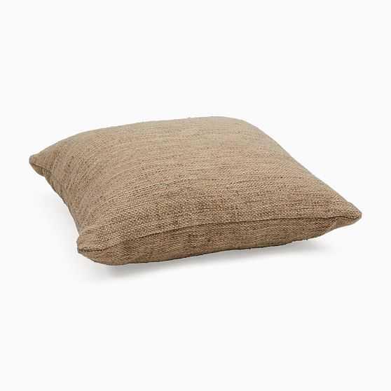 "Marled Shimmer Floor Cushion, 28""x28"", Natural - West Elm"