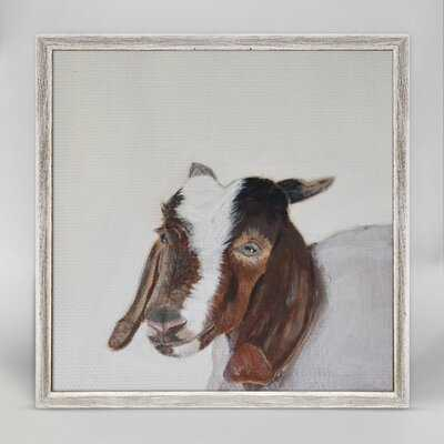 Glaucia Little Goat Portrait Mini Framed Canvas Art - Wayfair
