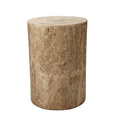 Kingsfield Solid Wood Drum End Table - Wayfair