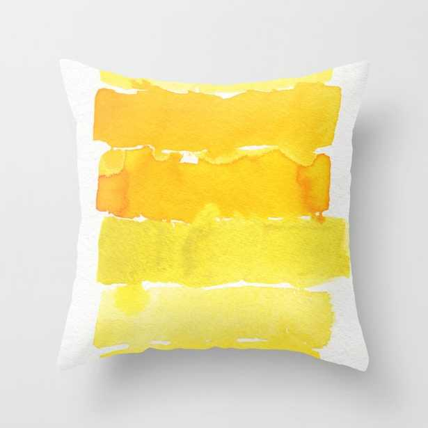 """Watercolor Unlock: Yellow Couch Throw Pillow by Georgiana Paraschiv - Cover (18"""" x 18"""") with pillow insert - Indoor Pillow - Society6"""