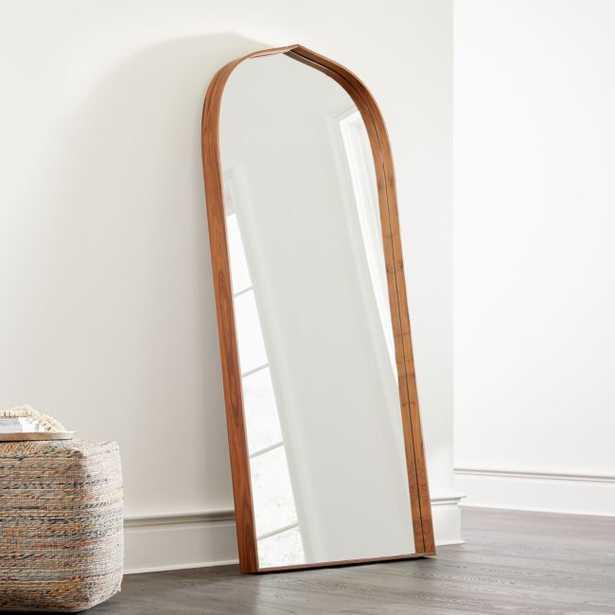 Penarth Walnut Floor Mirror - Crate and Barrel