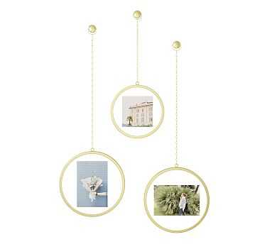 Round Brass Chain Frames, Set of 3 - Pottery Barn