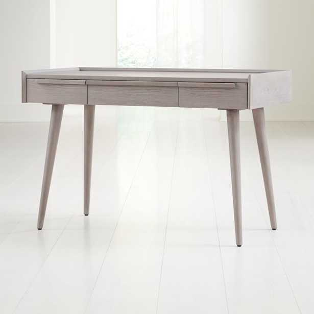 """Tate Stone 48"""" Desk with Power Outlet - Crate and Barrel"""