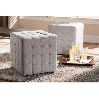 Burna Tufted Cube Ottoman - Wayfair