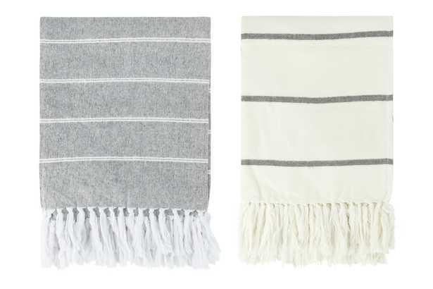 Lind Brushed Cotton Throw, Set of 2 Colors - Haldin