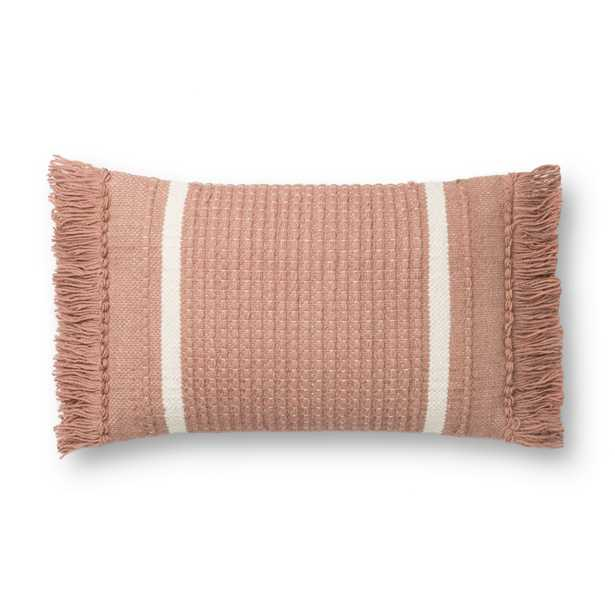 """PILLOWS P1128 BLUSH 13"""" x 21"""" Cover w/Poly - Magnolia Home by Joana Gaines Crafted by Loloi Rugs"""