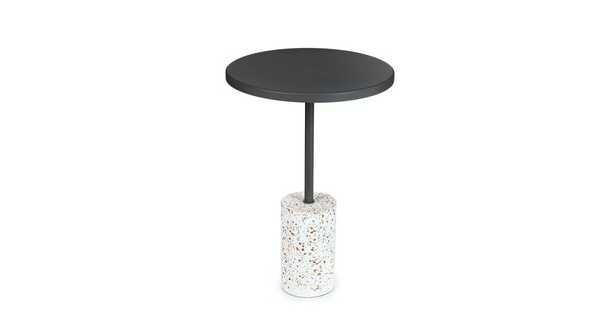 Narro Terrazzo Dark Gray Side Table - Article