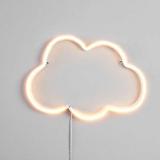 Neon LED Decor, Cloud White - West Elm