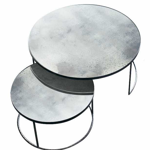 Notre Monde Frame 2 Nesting Tables Table Top Color: Clear - Perigold