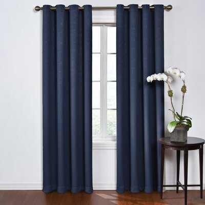 Taj Solid Blackout Thermal Grommet Single Curtain Panel - Birch Lane