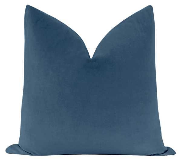 "Classic Velvet // Heritage Blue - 20"" X 20"" - Little Design Company"