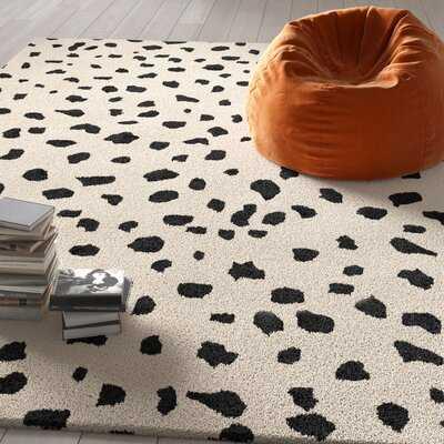 Bryan Tufted Wool Animal Print Hand-Tufted Wool Beige/Black Area Rug - Wayfair