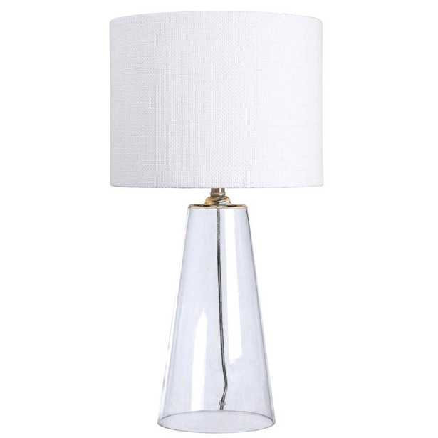 Kenroy Home Boda 29 in. Clear Glass Table Lamp - Home Depot