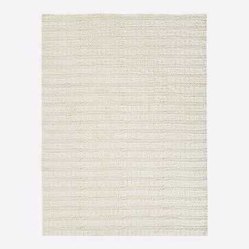Braid Stripe Sweater Rug, 8x10, White - West Elm