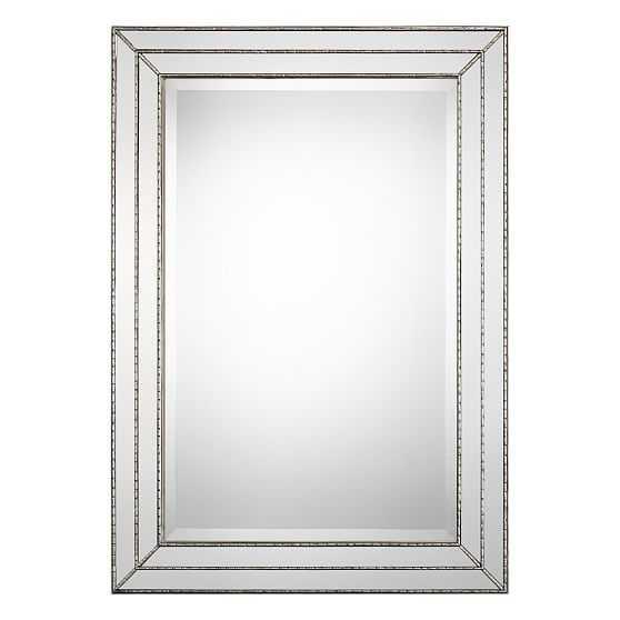 Stepped Frame Mirror, Silver - West Elm