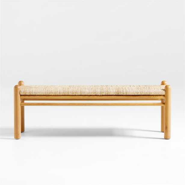 Arroyo Rush Woven Bench - Crate and Barrel