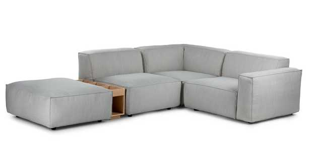 Solae Hush Gray / Oak Right Arm Corner Sectional - Article