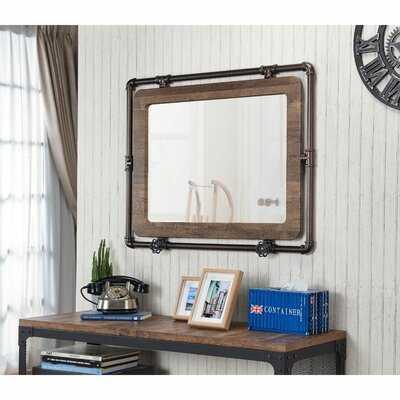 Haslemere Industrial Accent Mirror - Wayfair