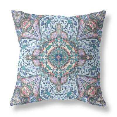 Buddha Flower Ceremony Suede Zippered Pillow With Insert Aqua Brown - Wayfair