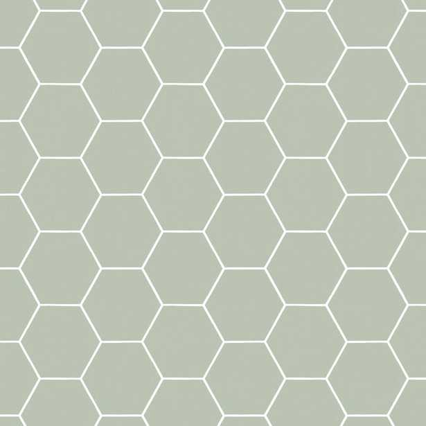 Superfresco Easy Honeycomb Green Geometric Removable Wallpaper - Home Depot