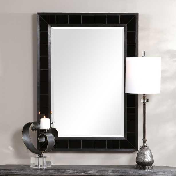 Lonara Black Tile Mirror - Hudsonhill Foundry