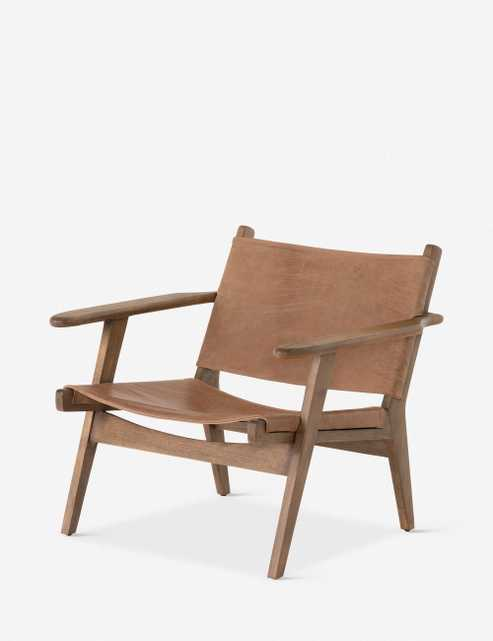 Sela Leather Accent Chair, Brown - Lulu and Georgia