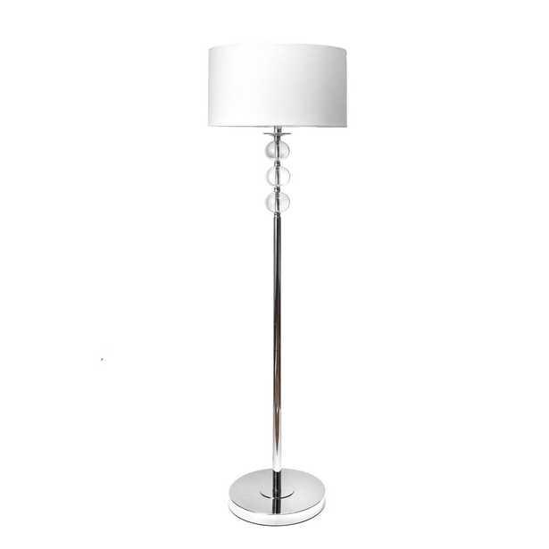 nuLOOM 62 in. Silver Branson Crystal Indoor Floor Lamp - Home Depot