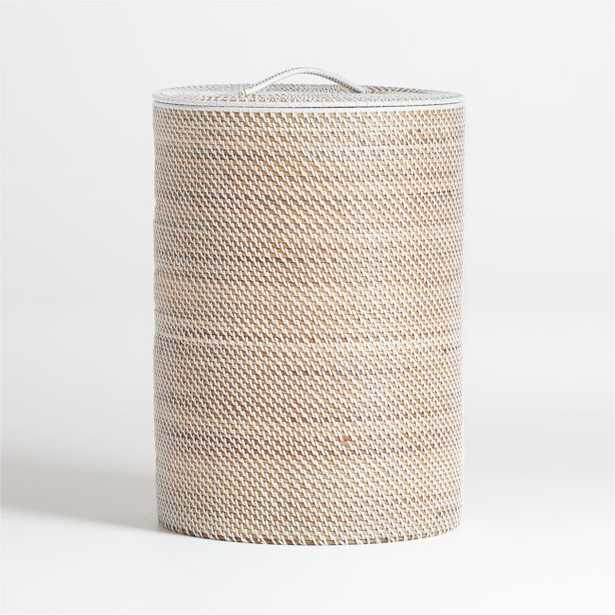 Sedona White Hamper - Crate and Barrel