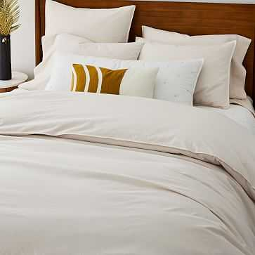 Organic Washed Cotton Duvet, King/Cal. King, Ivory - West Elm