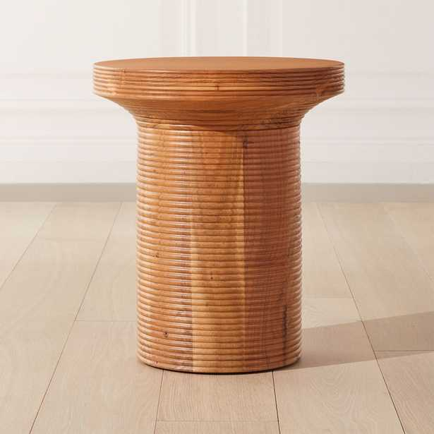 Trill Round Wood Side Table - CB2