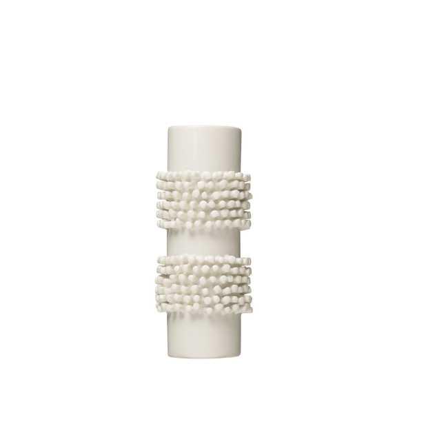 "Handmade 8""H Poodle Cut Stoneware Vase - Moss & Wilder"