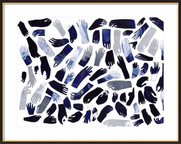 Blue Hands by Charlotte Ager for Artfully Walls - Artfully Walls
