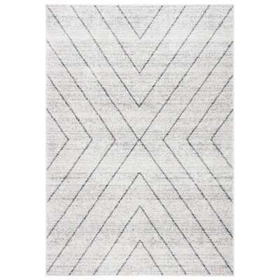 Janzen Geometric Ivory/Gray Area Rug - Wayfair