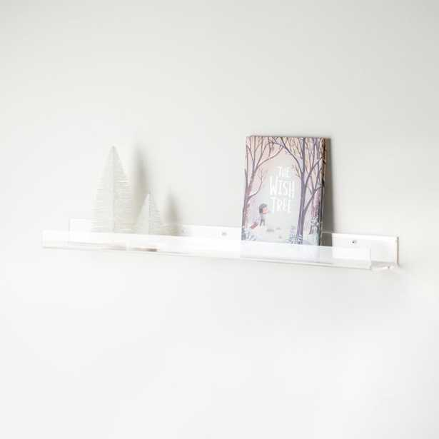 Acrylic Book Ledge - Crate and Barrel
