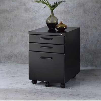 File Cabinet, Oak & Black - Wayfair