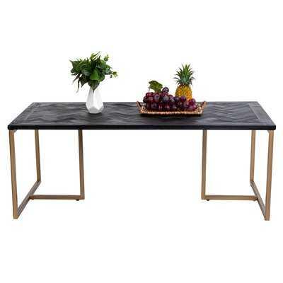 48*24inch Vintage Coffee Table,black - Wayfair