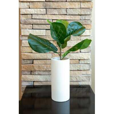 10'' Artificial Fiddle Leaf Fig Plant in Decorative Vase - Wayfair