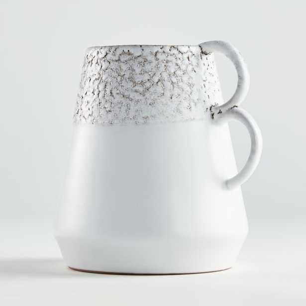 Caldwell White Vase with Double Handles - Crate and Barrel