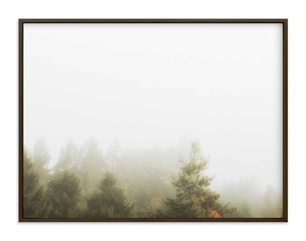 Foggy Autumn Forest Morning Art Print - Minted