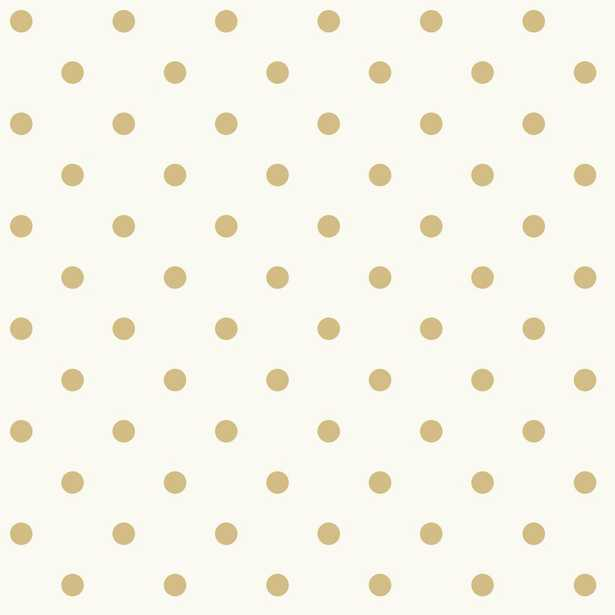 56 sq. ft. Dots on Dots Removable Wallpaper, White/Yellow - Home Depot