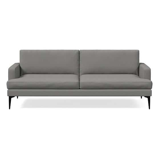 Andes Futon, Chenille Tweed, Feather Gray, Dark Pewter - West Elm