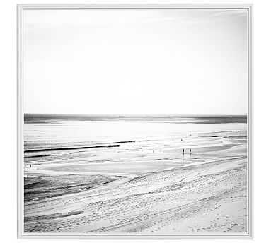 "Bay Blues by Cindy Taylor, 48"" x 48"" Ridged Distressed, White, No Mat - Pottery Barn"
