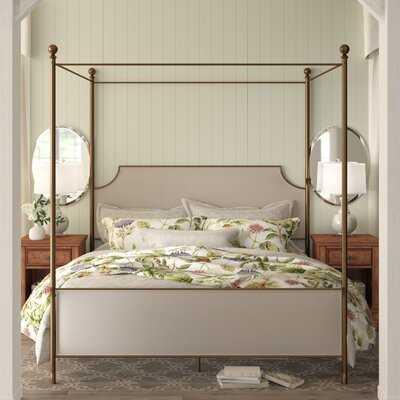 Perran Upholstered Canopy Bed - Wayfair