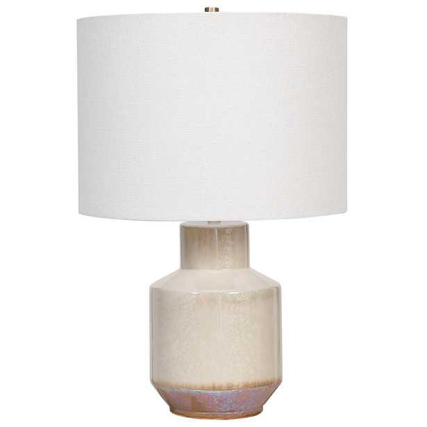 Iridescent Cream Table Lamp - Hudsonhill Foundry