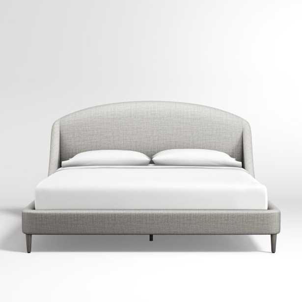 Lafayette Mist Upholstered King Bed without Footboard - Crate and Barrel