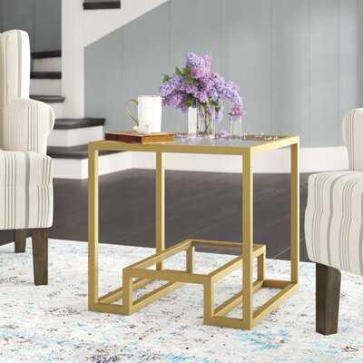 Imel Glass Top Frame End Table - Wayfair