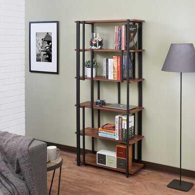 Sara Bookshelf In Walnut & Sandy Black - Wayfair